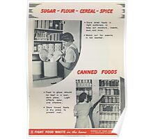 United States Department of Agriculture Poster 0298 Sugar Flour Cereal Spice Store Tight and Dry Poster