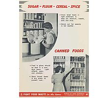 United States Department of Agriculture Poster 0298 Sugar Flour Cereal Spice Store Tight and Dry Photographic Print