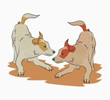 Two heeler pups playing tag Kids Clothes