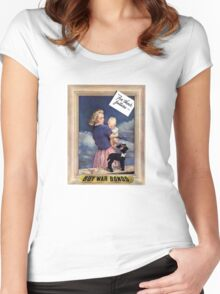 For Their Future -- Buy War Bonds  Women's Fitted Scoop T-Shirt