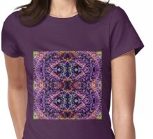 Purple Heart Spiderwort - In the Mirror Womens Fitted T-Shirt