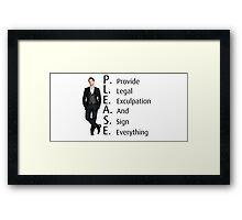 Barney Stinson's Job Framed Print