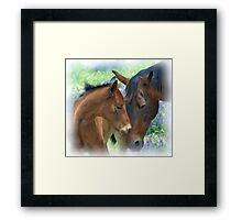 Mother and Daughter in Corel Painter Framed Print