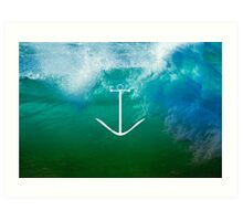 Blue, green ocean Art Print