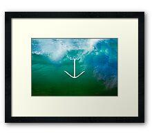 Blue, green ocean Framed Print