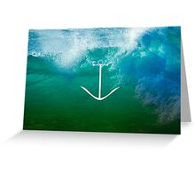 Blue, green ocean Greeting Card