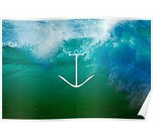 Blue, green ocean Poster