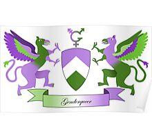 Genderqueer Crest Poster