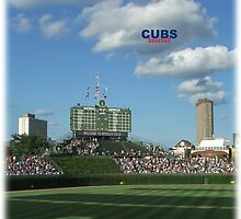 Cubs Baseball by don thomas