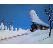 Winter Train Photographic Print