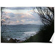 Montague Island at Dusk Poster