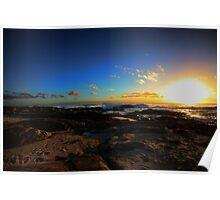 Margaret River Footprints sunset Poster
