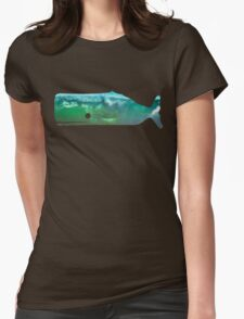 Sperm Whale wave Womens Fitted T-Shirt