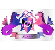 Genderfluid Crest Poster