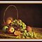 Fruit in a Basket ( still life ) by Irene  Burdell