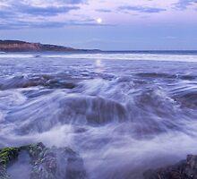 Anglesea Moonrise,Great Ocean Road,Australia by Darryl Fowler