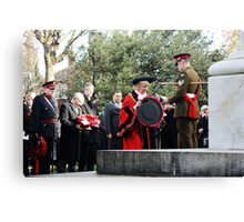 Mayor of Grimsby lays her wreath Canvas Print