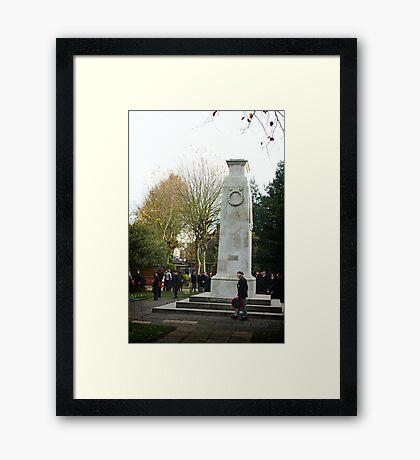 Old soldier Framed Print
