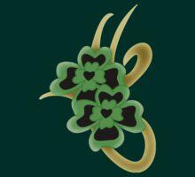 St. Patrick Golden Tribal Iconic Shamrock tattoo T-Shirt