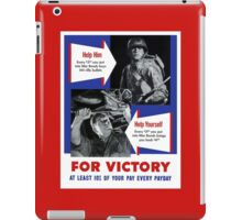 Help Him For Victory -- WWII iPad Case/Skin