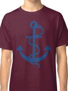 Navy Blue Nautical Boat Anchor Classic T-Shirt