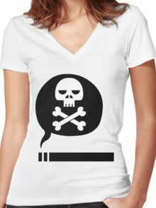 Death Stick Women's Fitted V-Neck T-Shirt