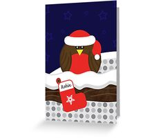 Robin On Christmas Eve Christmas Card Greeting Card