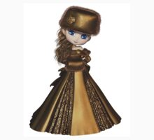 Toon Winter Princess in Gold One Piece - Short Sleeve