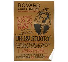 WPA United States Government Work Project Administration Poster 0917 Bovard Auditorium Mary Stuart Poster