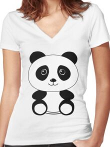 The Panda Women's Fitted V-Neck T-Shirt