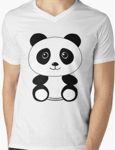 The Panda Mens V-Neck T-Shirt