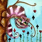 The Cheshire Cat - Lazy days by StressieCat