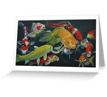 Oil painting:FISH Greeting Card