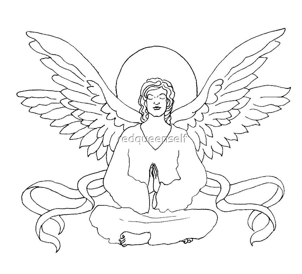 Yoga Angel-Because Everyone Should Stretch Their Wings! by redqueenself