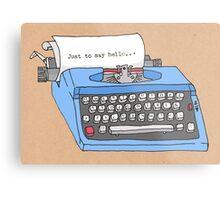 Hello Typewriter! Metal Print