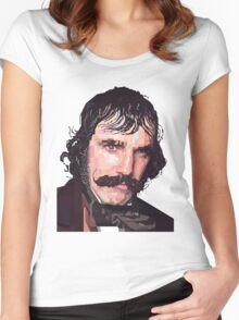 DANIEL DAY-LEWIS BILL THE BUTCHER GANGS OF NEW YORK GRAPHIC ART T SHIRT Women's Fitted Scoop T-Shirt
