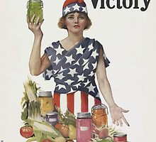 United States Department of Agriculture Poster 0120 Women of America Work for Victory National War Garden Commission by wetdryvac
