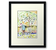The Council Worker Clearing the Pond Framed Print