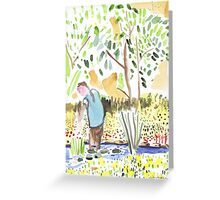 The Council Worker Clearing the Pond Greeting Card