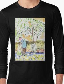 The Council Worker Clearing the Pond Long Sleeve T-Shirt