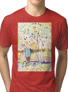 The Council Worker Clearing the Pond Tri-blend T-Shirt