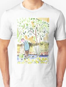The Council Worker Clearing the Pond Unisex T-Shirt