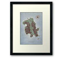 Lost Island Dharma Framed Print