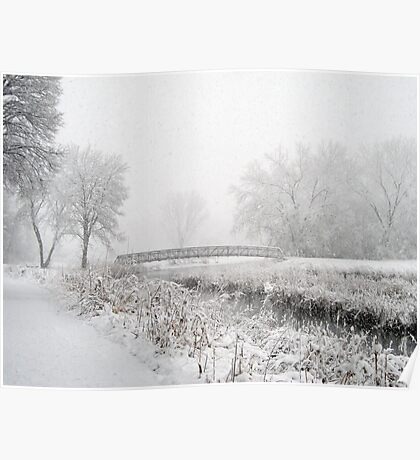 Snowing Bridge Scene 1 Poster