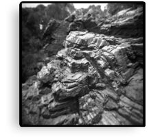 Stripey rocks Canvas Print