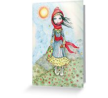 Heidi comes to the Mountain Greeting Card