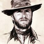 Clint Eastwood portrait by wu-wei