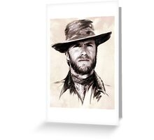 Clint Eastwood portrait Greeting Card