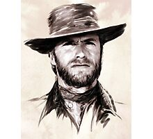 Clint Eastwood portrait Photographic Print