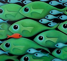 Green Fish 1 by Georgie Greene